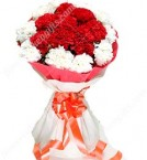 send 15 Mix carnation flower Bouquet  delivery