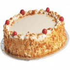 send 2Kg Eggless Butterscotch Cake delivery