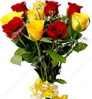 send Red n Yellow Roses delivery