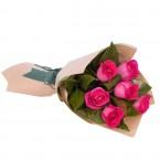send Long Stemmed Rose Bouquet Pink 6 delivery