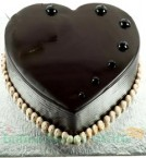 send 1Kg Heart Shape Chocolate Truffle Eggless Fresh Cream Cake delivery