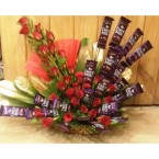 send Roses Cadbury dairy milk Chocolate Bouquet delivery