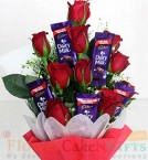 send Roses Chocolate Bouquet delivery