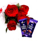 send Chocolate n Roses Flower Bouquet delivery