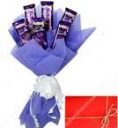 send cadbury dairy milk silk chocolates bouquet  delivery