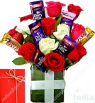 send Roses Flower n Chocolates Bouquet delivery