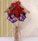 send flower and Chocolates Bouquet delivery