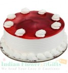 send 1 Kg Strawberry Eggless Cake delivery