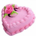 send Heart Shape Strawberry Cake 1Kg delivery