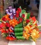 send Flower Dairy Milk Chocolates Bouquet delivery