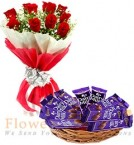 send Dairy Milk Chocolate n Bouquet  delivery