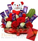 send Teddy Chocolate n Bouquet delivery