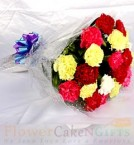 send 15 Mix Carnations Flower delivery