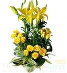 send roses and lilies bouquet delivery