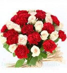send Roses n Carnations Flower Bouquet delivery