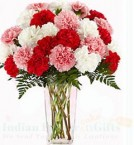 send Carnations Flower Vase delivery