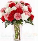 send Carnations Flower Vase delivery