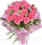 send Pink Carnations Bouquet delivery