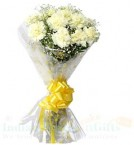 send White Carnations Flower Basket delivery