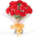 send 10 Carnations Flower bouquet delivery