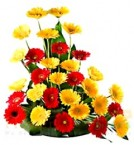 send Red Yellow Gerberas Bouquet delivery