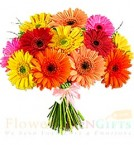 send 12 Gerberas Bouquet delivery