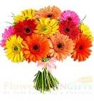 send 12 Gerberas Bouquet delivery