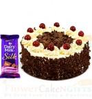 send Half kg Black  Forest Cake n Dairy Milk Silk Chocolate  delivery