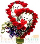 send Teddy Roses Flower Chocolates Bouquet delivery