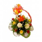 send Mixed Flower n Lilies Bouquets delivery