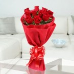 send 12 roses flower bouquet delivery
