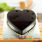 send Heart Shape Chocolate Truffle Cake 500gms delivery