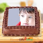 send 1 Kg Chocolate Photo Cake delivery