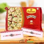 send 1kg soan papdi and Designer Rakhi delivery
