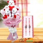 send teddy bear bouquet and rakhi delivery