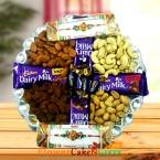 send dry fruit gifts hamper for rakhi delivery