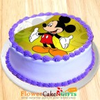 send 1kg Mickey Mouse Pineapple Photo Cake delivery