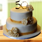 send 4kg Golden Jubilee Cake delivery