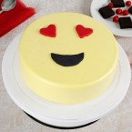 send 1kg True Love Emoji Cream Cake delivery