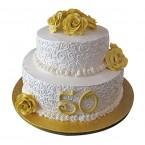 send 4kg Anniversary Fondant 2 Tier Cake delivery