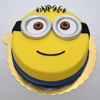send 1kg Yellow Minion Fondant Cake delivery