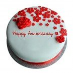 send 1kg Anniversary Fondant Roses Cake delivery