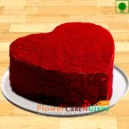 send Half Kg Eggless Red Velvet Heart Cake delivery