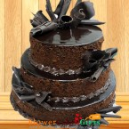 send  4kg 3 tier Chocolate cake  delivery