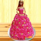 send 3 kg barbie doll cake delivery