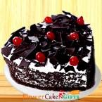 send 500gms Heart Shape Black Forest Cake delivery