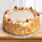 send Butterscotch Eggless Cake 500gms delivery