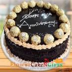 send 1kg Eggless Ferrero Rochers Chocolate Cake delivery