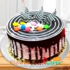 send 1kg choco vanilla cake delivery