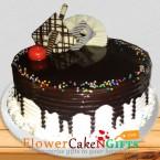 send half kg choco vanilla cool cake delivery